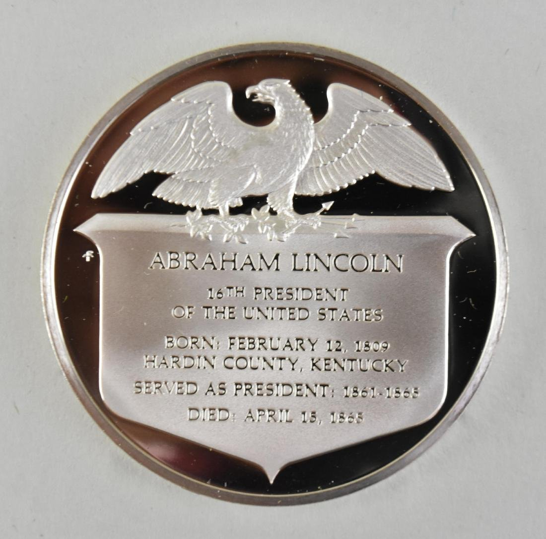 LINCOLN STERLING SILVER MEDAL W/ ANOTHER LINCOLN MEDAL - 2