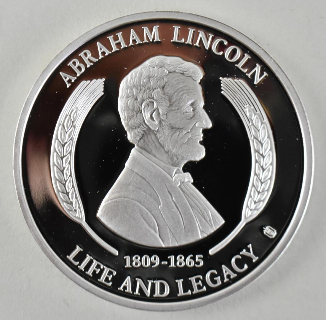 LINCOLN STERLING SILVER MEDAL W/ ANOTHER LINCOLN MEDAL - 5