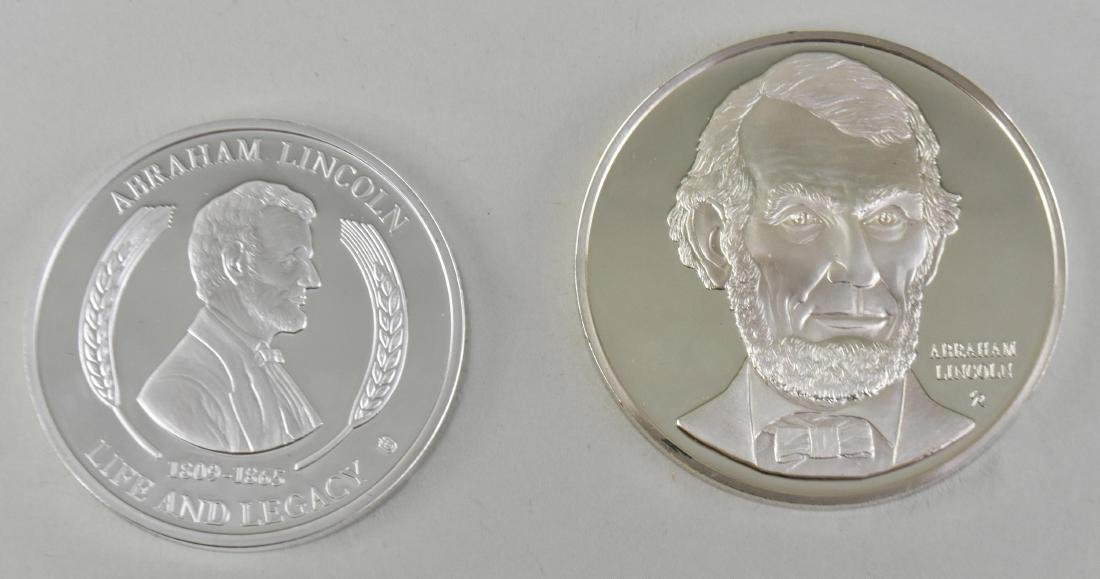 LINCOLN STERLING SILVER MEDAL W/ ANOTHER LINCOLN MEDAL - 6
