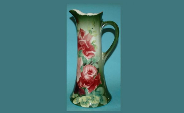 "301: KG Luneville Hand Painted Pitcher 14"" high  (100/1"