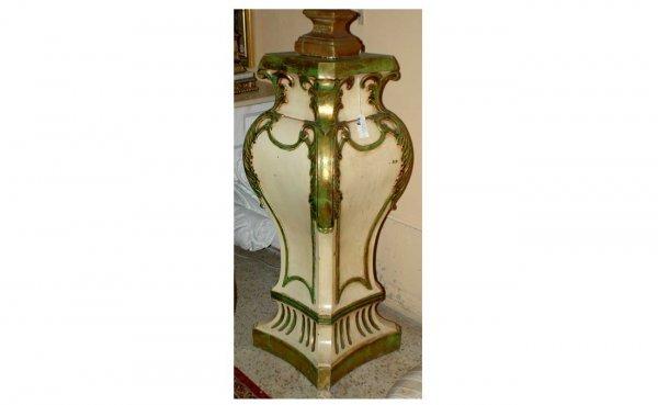 318: Painted Fiberglass Pedestal  (100/150)