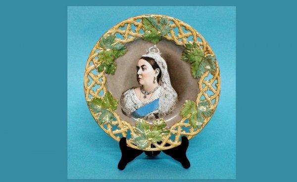 1003: Impressed 'Meissen' Queen Victoria Pierced Rim Ge