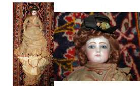 1284: Antique French Jeaumeau Fashion Doll C. 1880 all