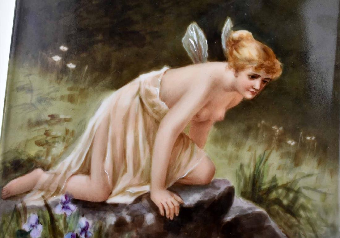 LIMOGES PAINTED PORCELAIN PLAQUE  OF PSYCHE - 2