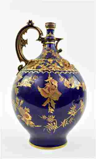 ROYAL CROWN DERBY GILT COBALT BLUE VASE
