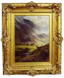 113: Charles Stuart, British (?-1904), Scottish Landsca