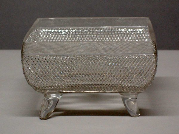 1004: Large Continental cut crystal center bowl. (60/80