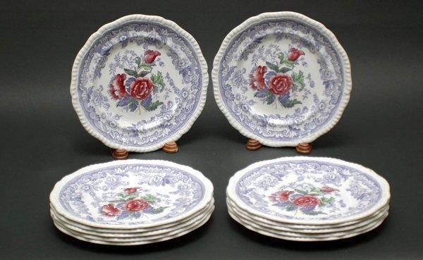 1015: Set of 12 English Copeland Spode porcelain plates
