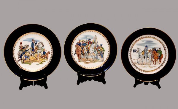 "1017: Set of three German Heinrich porcelain ""Napoleon"""