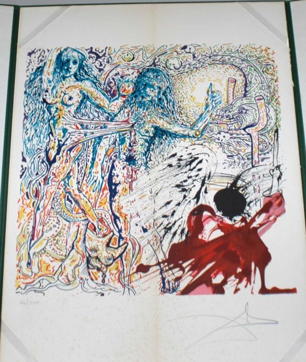 1086: Salvador Dali Lithograph signed and numbered