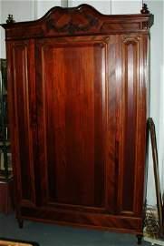 1286A: Louis XV style mahogany wardrobe