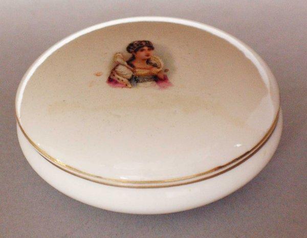7: Ginori Porcelain Box and Cover,Italian 20th Century,