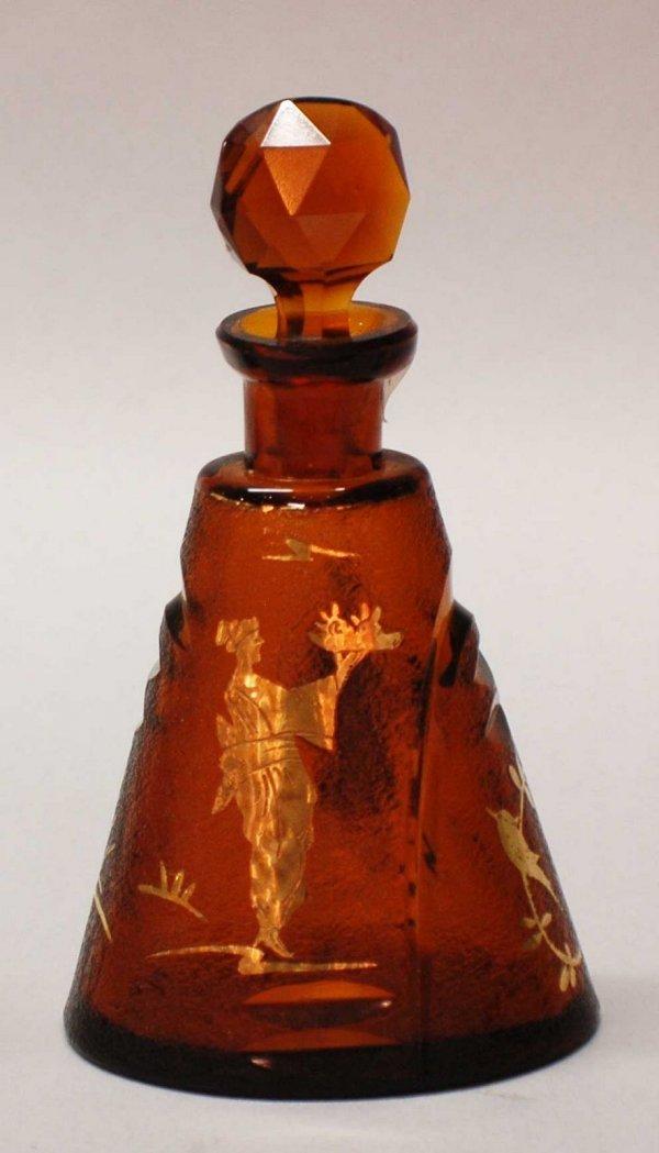 8: Unsigned Moser Glass Scent Bottle,Austrian C. 1915,