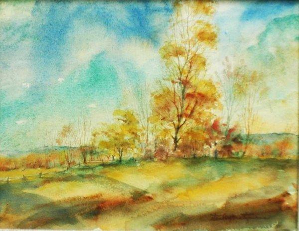 """23: Stanley Maltzman (American B. 1921)""""October Winds"""""""