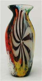 126: Venetian Glass Vase, Italian of ovoid shape, decor