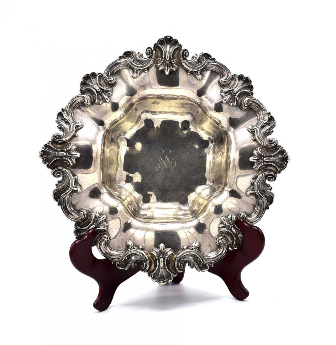 AMERICAN ROCOCO STYLE STERLING SILVER FRUIT BOWL