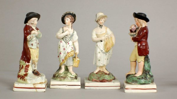 10: SET OF FOUR PORCELAIN FIGURES OF THE FOUR SEASONS