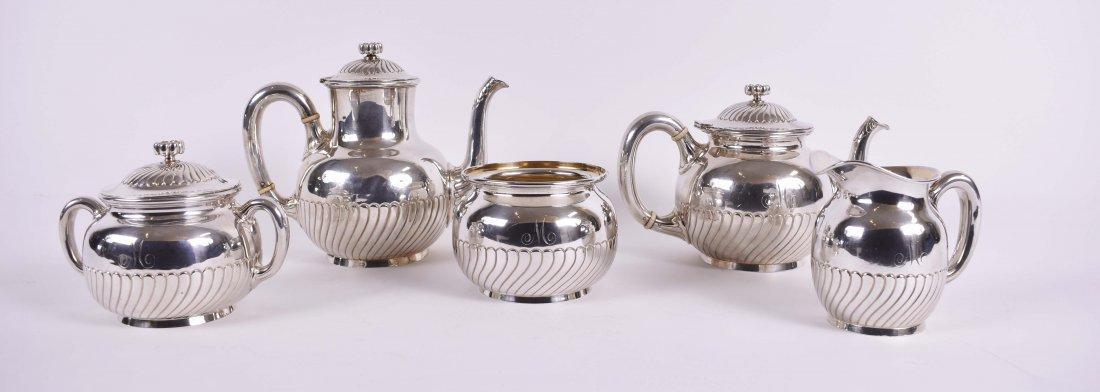 AMERICAN FIVE PIECE STERLING SILVER TEA/COFFEE SET