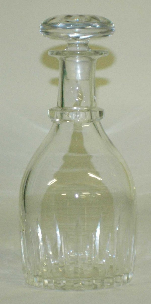 1001: PAIR OF GLASS DECANTERS