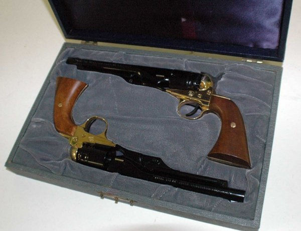 1012: PAIR OF COLT CIVIL WAR .22 CALIBER SHORT PISTOLS