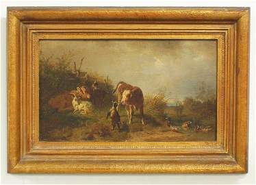 """1230: CONTINENTAL SCHOOL (19th Century)""""Landscape with"""