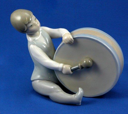 5: Lladro Boy w/ Drum #4616 Retired Figurine