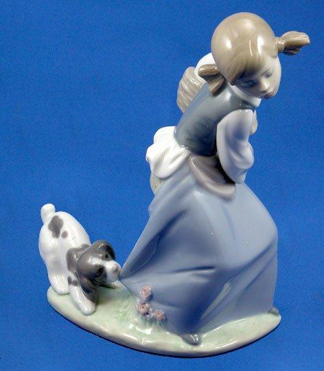 12: Lladro Naughty Dog # 4982  Retired Figurine