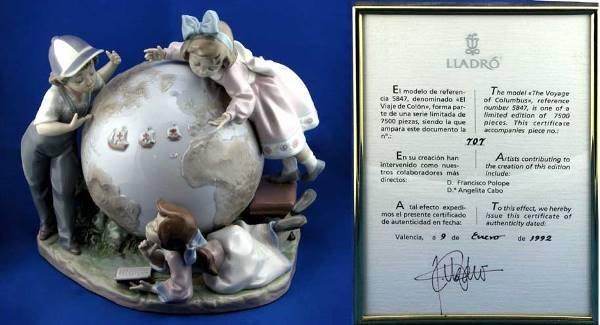 18: Lladro Voyage of Columbus LE #5847 Ret.Figurine