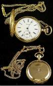 356 Ladies 14K Gold Waltham Pocket Watch