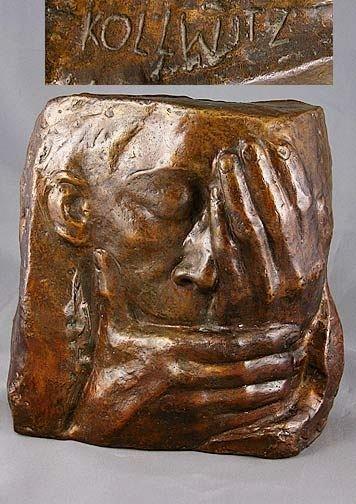 449: Kathe Kollwitz Signed Bronze