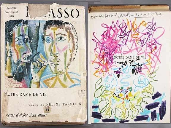 449A: Pablo Picasso Book Picasso, Notre Dame De Vie Sig