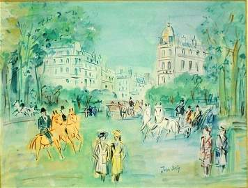 1162: JEAN DUFY (French. 1888-1964)