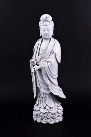 CHINESE BLANC DE CHINE PORCELAIN FIGURE OF QUANYIN