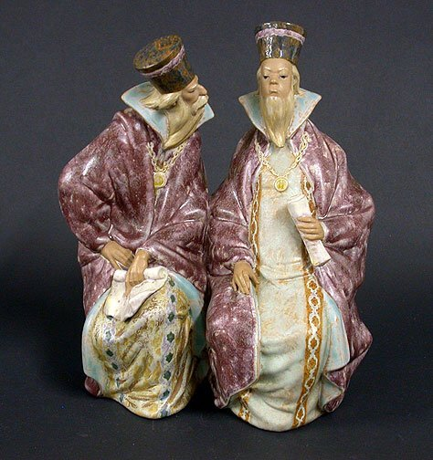 23: Lladro figural group Magistrates