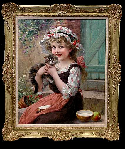 "112: Emile Vernon Oil  ""The Little Kittens"""