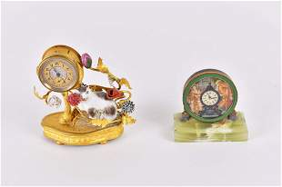 TWO SMALL FRENCH TABLE CLOCKS