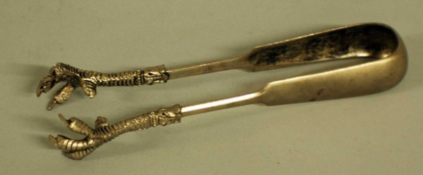 7: RUSSIAN SILVER SUGAR TONGS