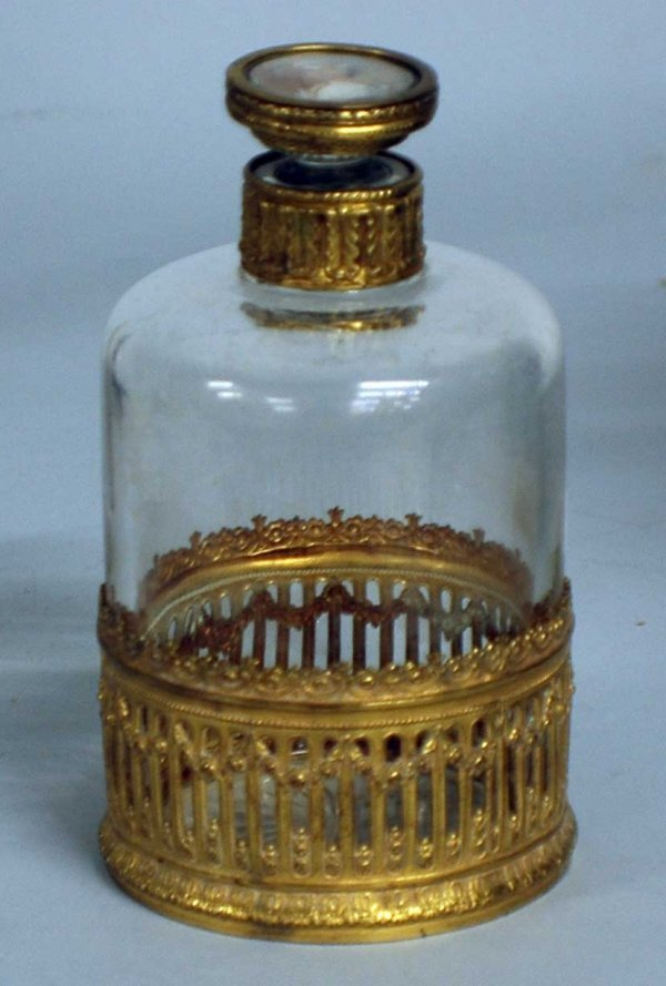 19: EMPIRE STYLE GLASS VANITY BOTTLE