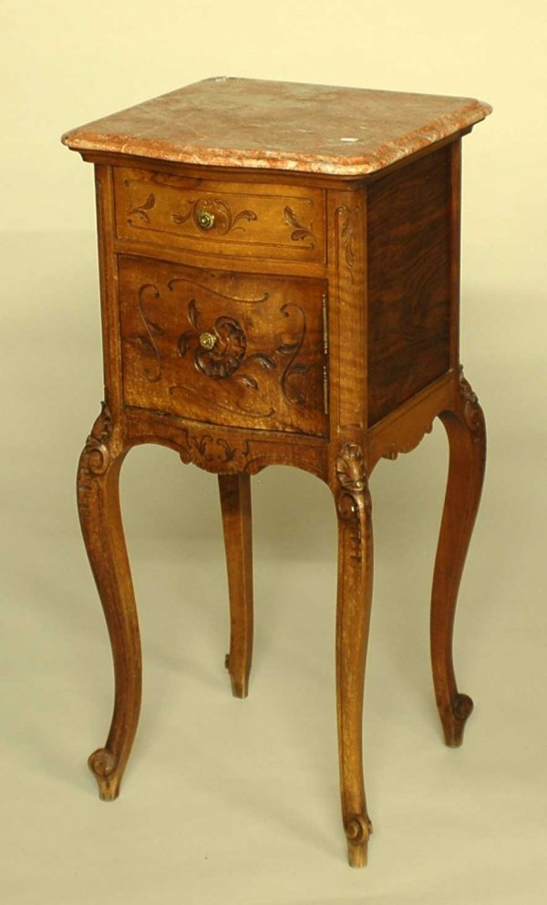 24: LOUIS XV STYLE FRUITWOOD BEDSIDE COMMODE