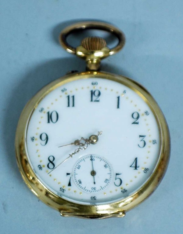 264: EIGHTEEN KARAT YELLOW GOLD POCKET WATCH