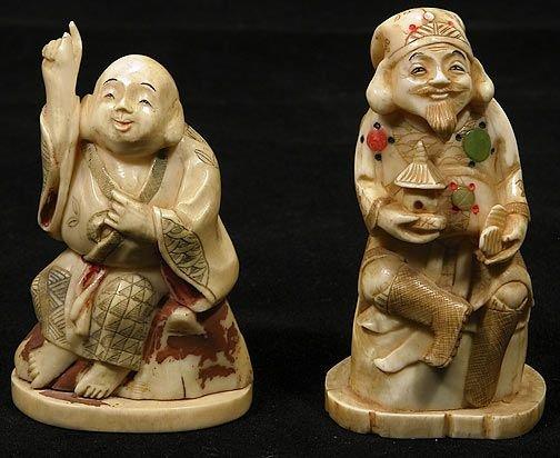 3: Two Japanese Ivory Okimono