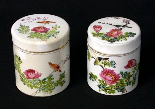 19: Two Chinese Export Lidded Canisters