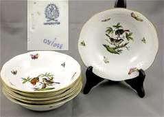 219 Set of Eight 8 Herend Rothschild Bird Bowls