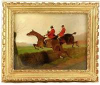 227 George Wright 18601942 Equestrian Riders Oil