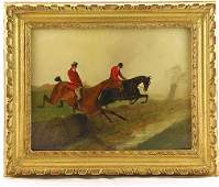 228 George Wright 18601942 Equestrian Riders Oil