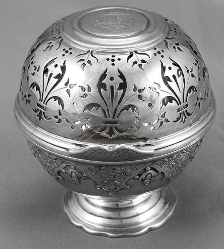 332: Antique Continental Sterling Silver Spice Box