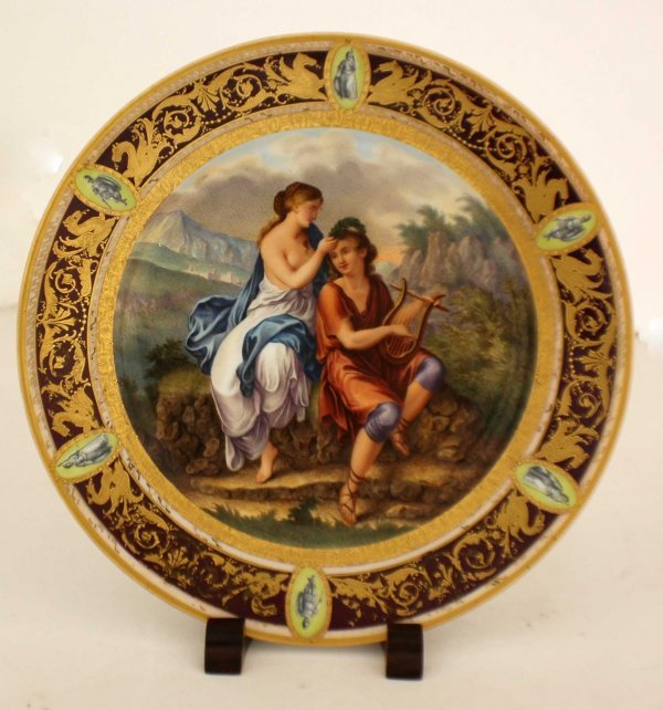 1013: VIENNA PORCELAIN PORTRAIT CABINET PLATE