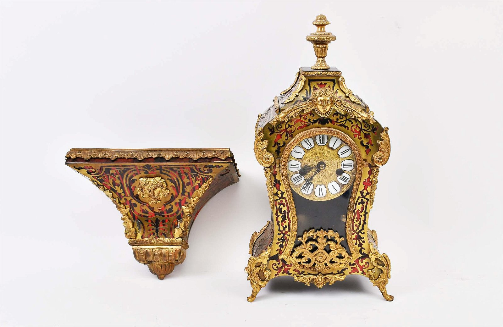 LOUIS XV STYLE BOULLE MARQUETRY BRACKET CLOCK WITH