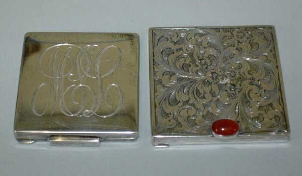 7: TWO SILVER COMPACTS