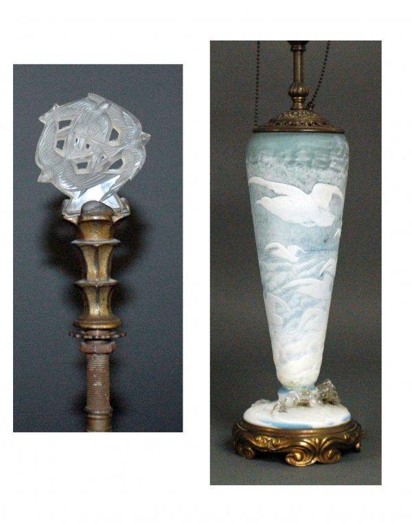 163: DAUM NANCY CAMEO GLASS LAMP